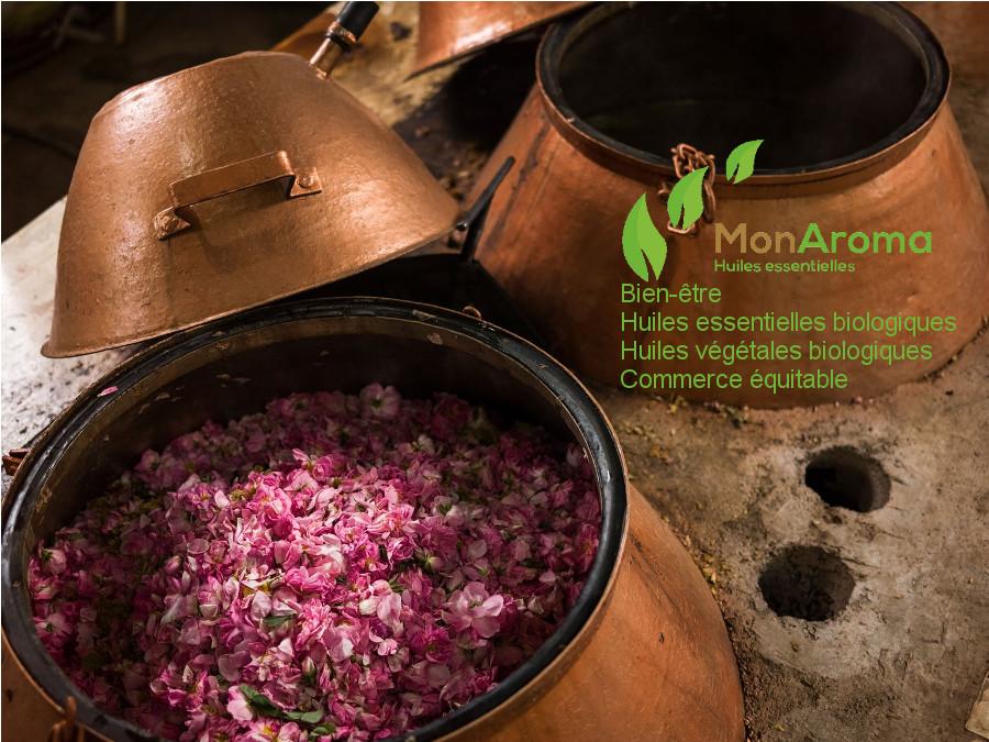 Distillateur Rose avec logo MonAroma bis