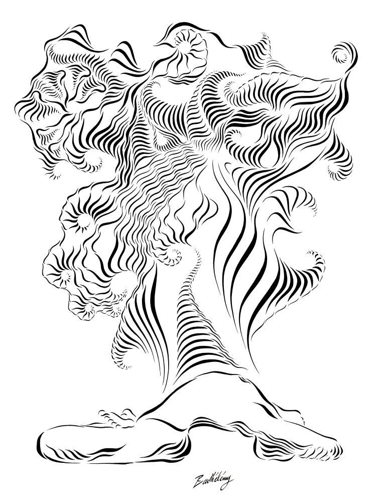 Barthélémy - Matsyasana 5 - encre sur papier - 50X65cm